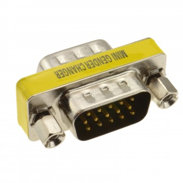 Gender Changer - HD15 (15pin) SVGA VGA Coupler Male to Male