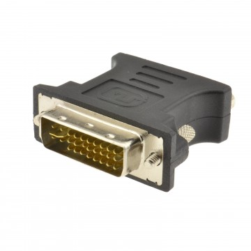 VGA 15 pin Video Socket to DVI 24+5 Analogue Plug Adapter