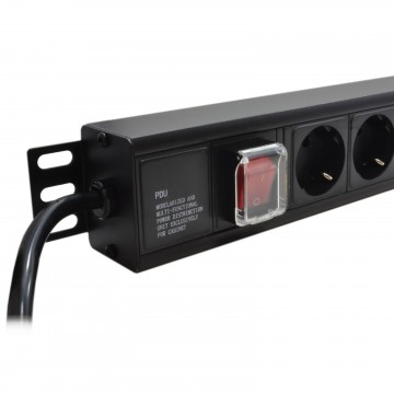 Power Distribution Unit PDU 12 Way Euro Schuko Plug Sockets &...