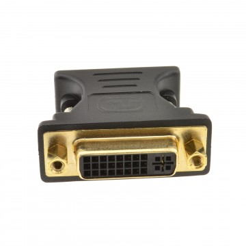 DVI 24+5 Female Socket to VGA 15 Pin Male Plug Converter Adapter
