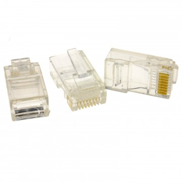 RJ45 Cat5e Ethernet LAN Crimps Ends for Networks [50 Pack]
