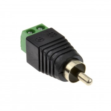 RCA Phono Plug Screw Terminal Easy Fit Connector for Audio CCTV Camera