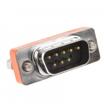 9 Pin Serial RS232 Male Plug to Female Null Socket Converter...