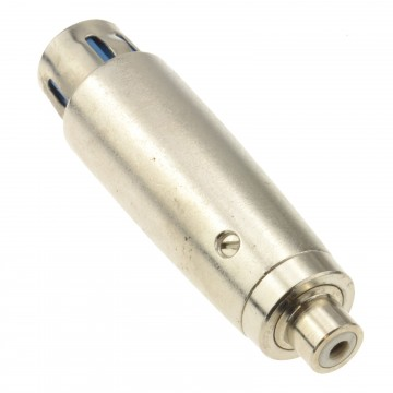 XLR 3 Pin Female to RCA Phono Mono Socket Bi Directional Adapter