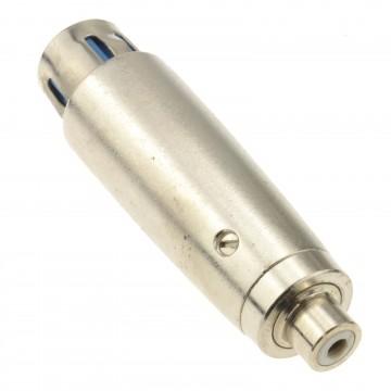 XLR 3 Pin Female to RCA Phono Mono Socket Bi Directional Adapter