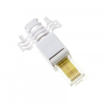IDC Punch Down to RJ45 Plug for Solid Network Ethernet Cable...