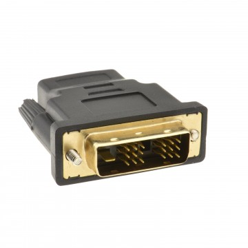 HDMI Socket to a 18+1 DVI-D Male Plug Converter Adapter Gold