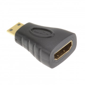 Female HDMI To Male MINI HDMI Adapter Changer Gold Plated for...