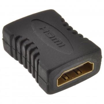 HDMI Slimline Coupler Joiner Female Socket to Female Socket GOLD