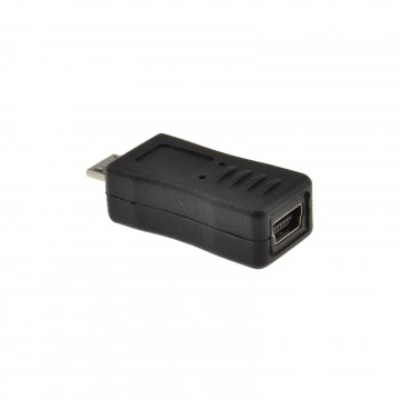 USB Mini B 5 pin Socket to Micro USB Male Plug Adapter Converter