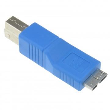 USB 3.0 SuperSpeed Converter B Type Male to Micro USB Male Plug
