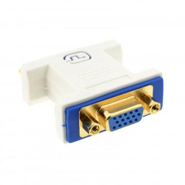 PRO DVI 24+5 Socket to VGA Socket 15 pin Video Coupler Adapter Joiner White