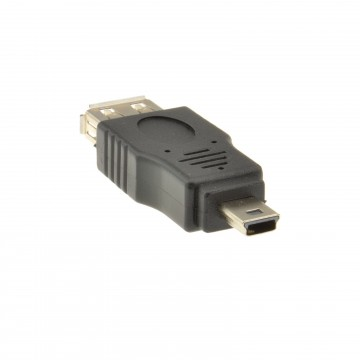 USB 2.0 A Type Female Socket to USB MINI 5 Pin Plug Male Adaptor