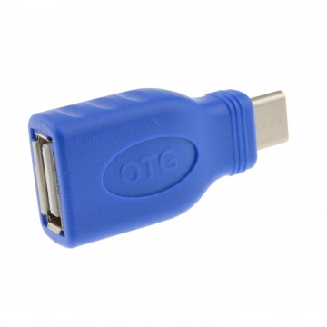 USB 3.1 Type C Male to USB 2.0 Type A Female Socket Adapter with OTG