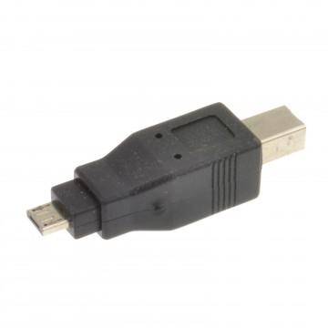 USB B Type Male Printer to Micro A Type Male Plug Converter Adapter