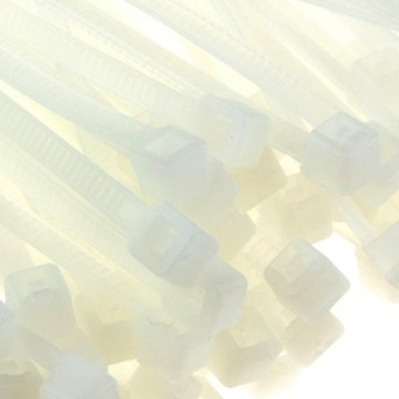 enTie Natural White Cable Ties 2.5mm x  60mm Nylon 66 UL Approved [100 Pack]