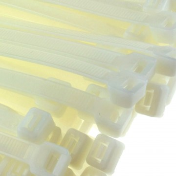 enTie Natural White Cable Ties 7.2mm x 400mm Nylon 66 UL...