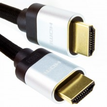 HDMI v2.1 Ultra High Speed HDR 8K 60Hz 4K 120Hz 48Gbps eARC Cable 1m Silver