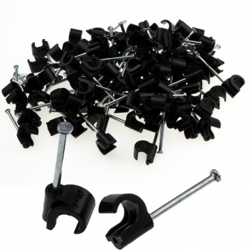 Cable Clip Hook Style  7mm to 10mm Round for Fastenings Cables...