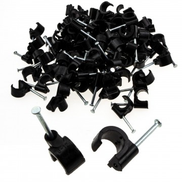 Cable Clip Hook Style  8mm to 12mm Round for Fastenings Cables...