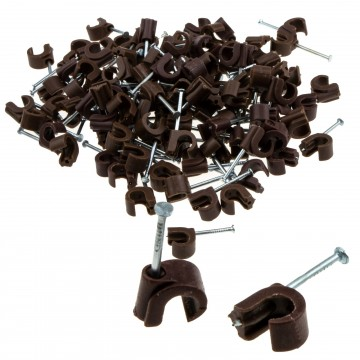 Cable Clip Hook Style  5mm to 7mm Round for Fastenings Cables...
