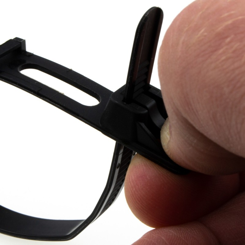 Easy Release Cable Ties 7.6mm x 200mm Releasable Reusable Black [25 Pack]
