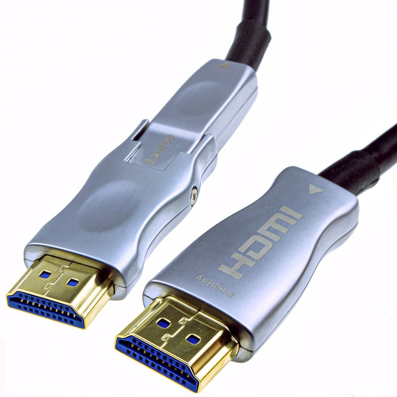 Detachable Plug HDMI 2.0 Active Optical Cable AOC for Wall Installation 4K  10m
