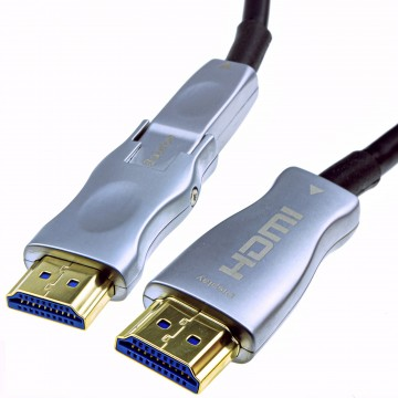 Detachable Plug HDMI 2.0 Active Optical Cable AOC for Wall...