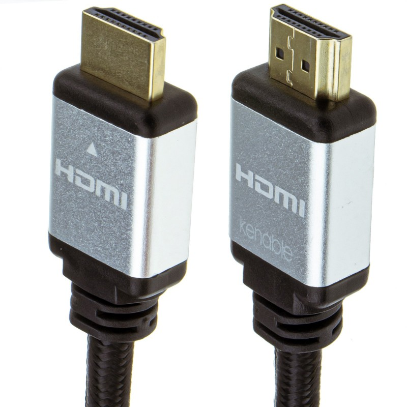 Certified HDMI 2.1 8K 60Hz 4K 120Hz UHD HDR10 4:4:4 48GBPS eARC 3m Silver
