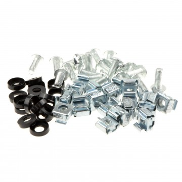 Rack Fixing Set M6 Captive/Cage Nuts/Bolts & Washers for Cabinets [20 Pack]