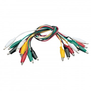 Crocodile Test Leads for use with Multi Meters 5 Colours [10 Pack]