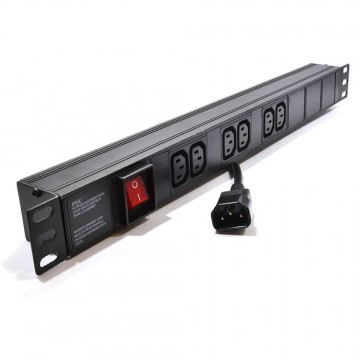 Power Distribution Unit 6 Way C13 IEC 19 inch Horizontal PDU...