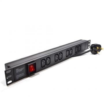 Power Distribution Unit 8 Way C13 IEC 19 Horizontal PDU to UK...