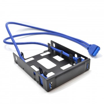 3.5 Drive Bay Mounting Chassis for 2.5 SSD/HDD with 2 Port USB 3 Hub