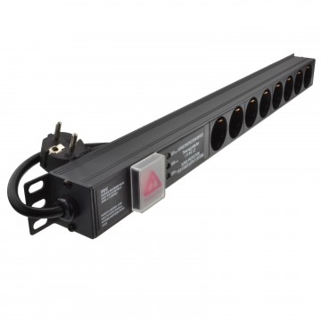 Surged Power Distribution Unit PDU 8 Way Euro Schuko Socket &...