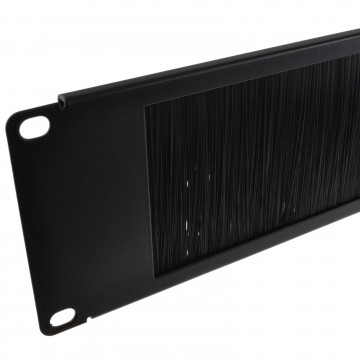 Brush Plate/Panel Cable Management 2U for 19 inch Data Cabinet in Black