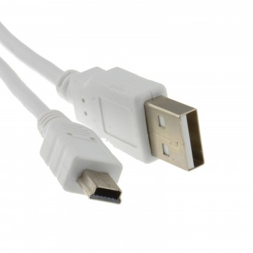 USB 2.0 Hi-Speed A to mini-B 5 pin Cable Power & Data Lead...