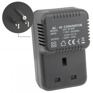 UK Step up Voltage 110V to 220V UK to US Plug Converter 45 Watts 45W