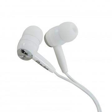QTX EC9S In-Ear Stereo MP3 Mobile PC Earphones Silver & White