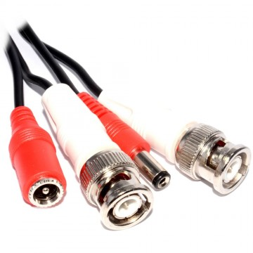 CCTV BNC Plugs & DC 2.1mm Camera Power Extension Cable 5m