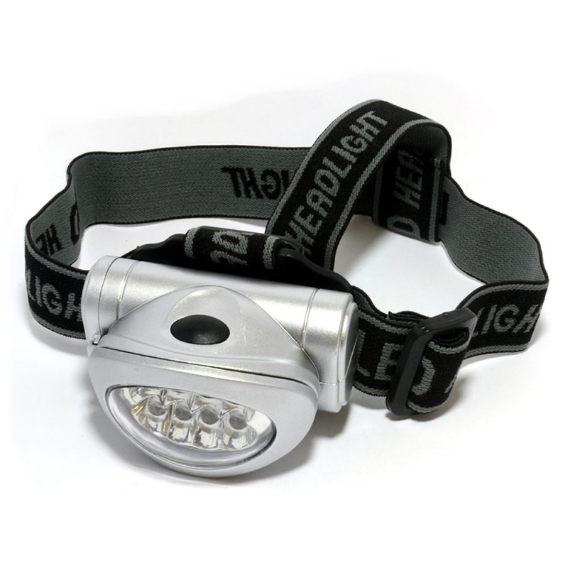 LED Head Torch Headlight Ultra Bright 8x LEDs for Camping or Jogging / Cycling
