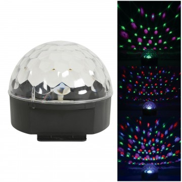 LED Moonglow Moving Party Light Effect Sound Activation Multi Coloured (6x 1W)