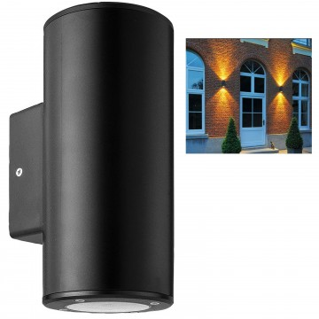 Outdoor Up & Down Light Wall-Mounted GU10 IP44 Garden Rounded...