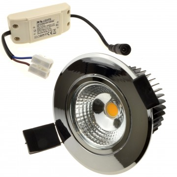 Ceiling LED Spotlight 5W Dimmable Warm White Tilting with Driver CHROME