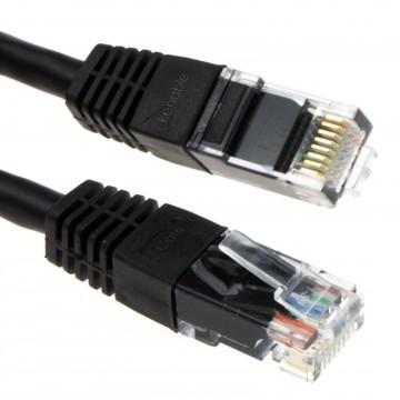 Ethernet Network Cable Cat6 GIGABIT RJ45 COPPER Internet Patch Lead Black 15m