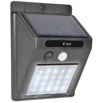 Solar LED Outdoor Security Light with PIR Motion Sensor Wall...