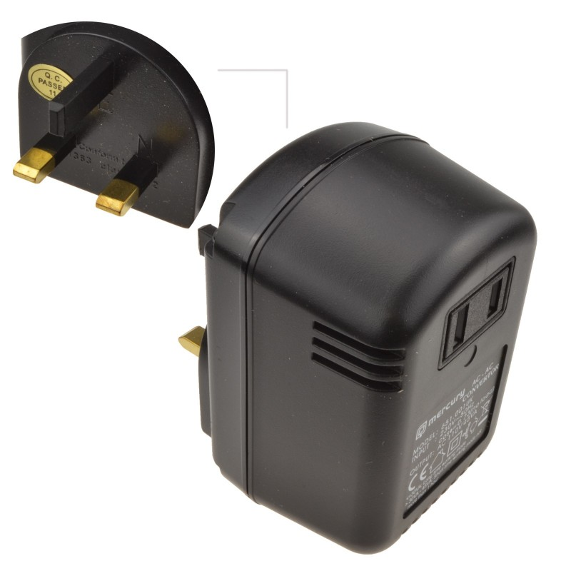Step Down Mains AC Voltage Converter 230V to 110V  45VA 45W US To UK Plug