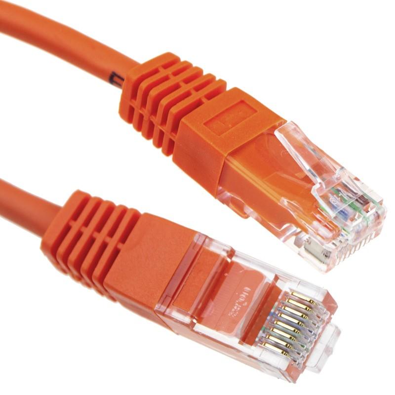 Orange Network Ethernet RJ45 Cat-5E UTP PATCH LAN COPPER Cable Lead  1m