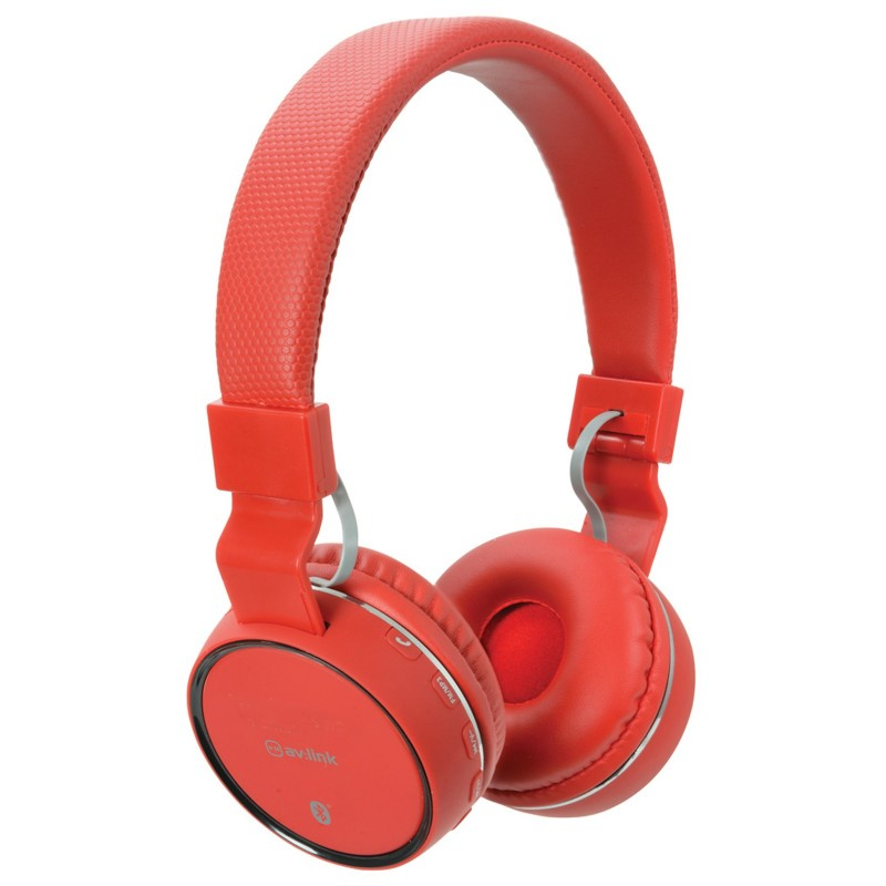 Wireless Bluetooth Noise Cancelling Rechargable Headphones & Mic Red