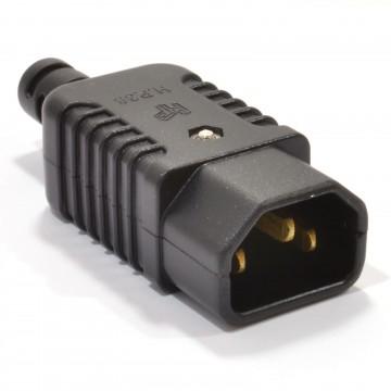 Heavy Duty Rewireable IEC C14 Kettle Lead Male Inline Plug 10A 230V